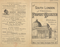 Advert for the South London and General Property Register